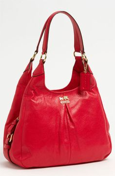 COACH 'Madison - Maggie' Leather Hobo available at #Nordstrom cognac please
