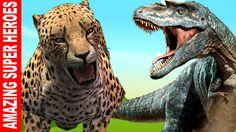 Wild Boar Vs Cheetah Short Movie & Dinosaurs Vs Monster Truck Vehicle fo...