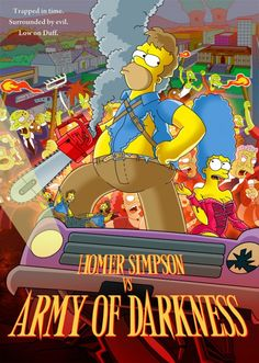 Homer Simpsons vs Army of Darkness by paulwilliamsart on DeviantArt The Simpsons Movie, Simpsons Art, Simpsons Drawings, Homer Simpson, Futurama, Cartoon Tv, Cartoon Characters, Simpsons Treehouse Of Horror, Rick Y Morty