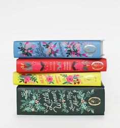 Rifle Paper Co illustrated covers for classic novels. Little Women, Heidi, A Little Princess, Anne of Green Gables.
