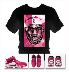 5ae18534a LeBron Soldier 9 Basketball Black T-Shirt made to match Nike Shoes pink theme  Lebron · Lebron James ...