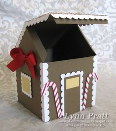 12/8; Lynn Pratt; Gingerbread House Gift Box & Card   Stamp-n-Design Store