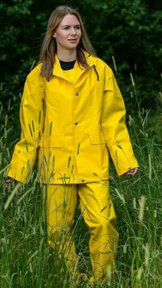 Country Wear, Rain Hat, Plastic Raincoat, Yellow Raincoat, Walking In The Rain, Overalls, Rain Jacket, Windbreaker, Girls