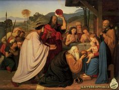 Friedrich Overbeck - Adoration of the Kings - Hamburger Kunsthalle, Hamburg, Germany Popular Paintings, Oil Painting Techniques, Photo To Art, Marie Curie, Oil Portrait, Oil Painting Reproductions, Old Master, Oil Painting On Canvas, Custom Paint