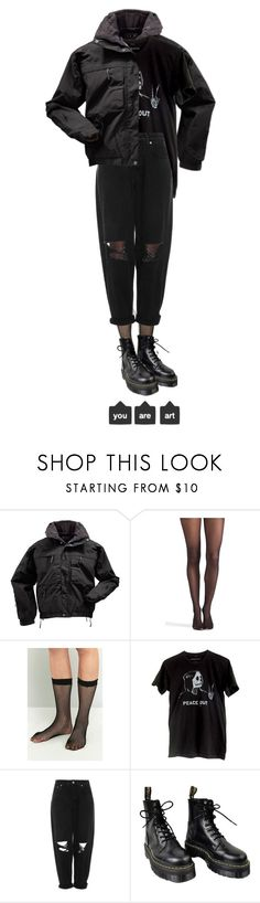 """""""i found my heart this morning"""" by brownloveh ❤ liked on Polyvore featuring 5.11 Tactical, Wolford, Boutique and Dr. Martens"""
