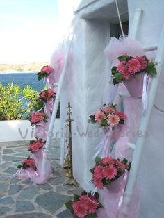 Διακόσμηση εκκλησίας βάπτισης - Victoria Wed Stories Flower Decorations, Table Decorations, Draping, Christening, Anastasia, Cool Kids, Ladder Decor, Cinderella, Weddings