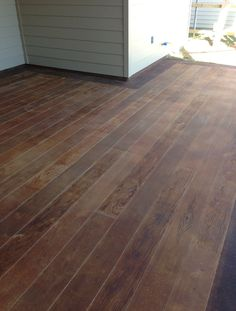 Wood Grain Texture Stamped Concrete Patio Amp Steps Casco