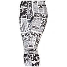 Vivid Newspaper Space Pattern Spandex Elastic Leggings (78 SEK) ❤ liked on Polyvore featuring pants, leggings, bottoms, elastic pants, nebula leggings, white pants, galaxy pants and galaxy print leggings