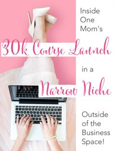 Inside One Mom's Online Course Launch in a Small Niche (Outside of the Business Space! Crying In The Shower, Business Tips, Online Business, Business Coaching, Stories For Kids, Blogging For Beginners, Mom Blogs, Blog Tips, Online Courses