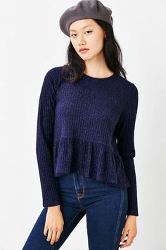 Kimchi Blue High/Low Babydoll Sweater