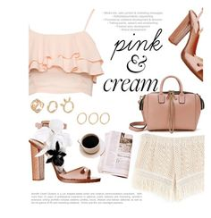 """pink&cream"" by mirisproleca ❤ liked on Polyvore"