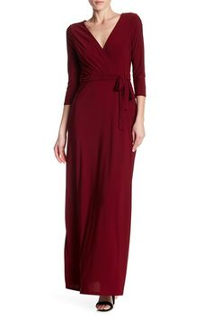 0909fead04c Image of JUST FOR WRAPS Maxi Mock Wrap Dress Wrap Dress