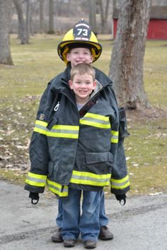 Firefighter Family photos.