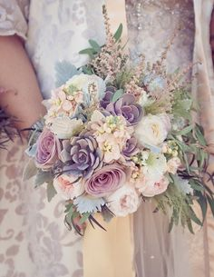 Beautiful pastel bridal bouquet