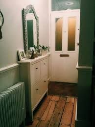 My ikea shoe storage. Perfect for a narrow victorian terrace hallway. & Our small entryway. Ikea Hemnes shoe cabinet. | Making a House a ...