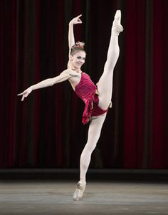"Natalia Osipova in ""Rubies"" from Balanchines Jewels. Photo ©Bill Cooper/ROH"