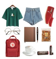 """""""art hoe"""" by areallycoolperson ❤ liked on Polyvore featuring WithChic, Fjällräven, TOMS, Sur La Table, Shinola, Montblanc and Burt's Bees"""