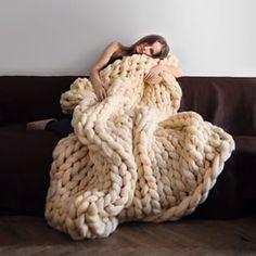 ¡Pero mira que cómodas! | Estas mantas tejidas gigantes son la respuesta a tus plegarias de invierno