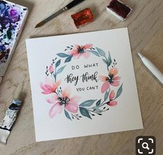 I made the lettering with my Apple Pencil using Procreate app . Brush Lettering Quotes, Watercolor Lettering, Hand Lettering Quotes, Typography, Wreath Watercolor, Watercolor Cards, Watercolor Flowers, Watercolor Paintings, Watercolour Pencil Art