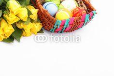 easter-egg basket and flowers - Osterkorb und Blumen