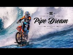 Stunt Rider Robbie Maddison defies logic, rides a wave with a dirt bike