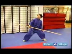 Advanced Wushu Techniques : The Lun Gun Staff Movement for Wushu - YouTube