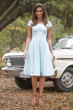 Derby Dress | Gardenias and Gingham by Shabby Apple