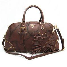8a93a0f02b73 £134.00 Outle Prada Bl0391 Coffee Leather Strape Shoulder Bags Sale Prada  Bag, Prada Handbags