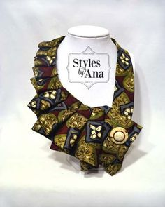 NEW Madame Fabric Necktie Necklace Unique Clothing by stylesbyana, $29.99