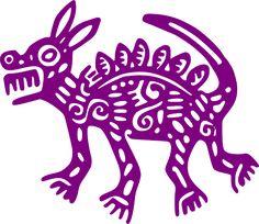 Mexique, Antique, Coyote, Art