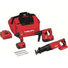 Hilti 18-Volt Lithium-Ion Cordless Rotary Hammer Drill/Reciprocating Saw/Impact Driver Combo Kit (3-Tool) $979.00 #BestReviews