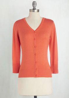 Charter School Cardigan in Cantaloupe. Show your style smarts in this versatile cardigan! #orange #modcloth