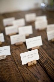 Place settings-wine corks