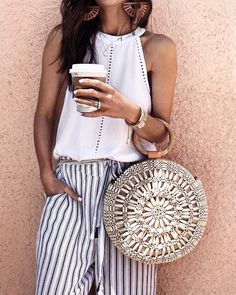Wednesday necessities: a second coffee run and the Cutout Halter  Photo via @stylinbyaylin