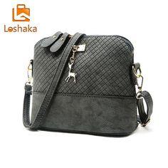 Loshaka Women Messenger Bags Fashion Mini Bag With Deer Appliques Shell Shape Bag PU -handbags - Buy2Moda