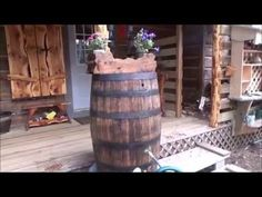 THE BACKWOODS CABIN. Episode 22. Rain Barrel. Flowers The Interior Boards Have…