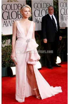 Charlize Theron 2012 Golden Globes awards Red Carpet