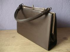 vintage 1960's Jaclyn brown handbag, brown purse, retro fashion, Pittsburgh