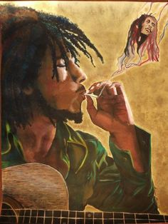 Bob Marley Art by Savannah Steiner