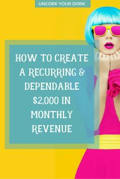 Tired of the revenue roller coaster? In April, I'm going to show you how to change that...and generate an income you can depend on. via @girlymcnerdy
