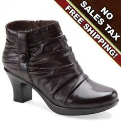 The beautiful Buffy Slouch Ankle Boot by Dansko for women features a side zipper for easy entry. This cute little brown boot looks great with pants, dresses and skirts. Make all of your co-workers envy your new cute style. Try a cute Buffy Slouch Ankle boot in dark brown nappa leather by Dansko.