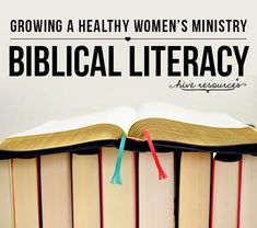 Growing a healthy women's ministry through biblical literacy {Hive Resources} #womensministry #discipleship