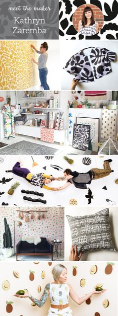 From child actress to textile designer: Our latest featured maker designs  whimsical wallpaper, paper cut-outs and more from her workshop in  Washington, DC.