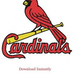 St. Louis Cardinals Stitched Machine Embroidery Designs - Instant Download