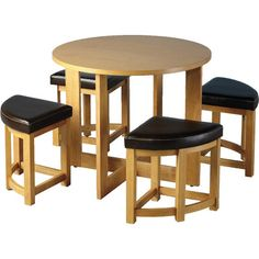 Space Saving Dining Table Small Breakfast Room White High Gloss And - Round table and stool set