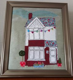Free Motion Machine & Hand Embroidery Of  Your House