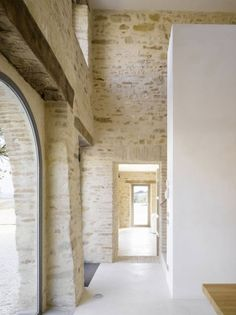 new white interior surfaces help reflection of light .. making it possible to keep small historical apertures in the same dimensions and proportion, whilst all rooms are irradiated by a fresh light....