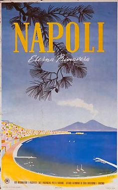 Naples, Eternal Spring. #poster #travel #ilovenapoli Poster Retro, Poster S, Poster Wall, Poster Prints, Vintage Italian Posters, Vintage Travel Posters, Italy Tourism, Italy Travel, Italy Vacation