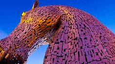 Kelpies Timelapse: Watch the Construction of Andy Scotts 100 Ft. Steel Equine Statues