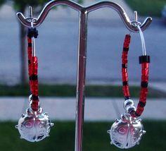 Ladybug Hoop Earrings by Michellescustomjewelry, $6.00 USD